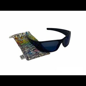 Oakley Ghost Text Fuel Cell Sunglasses Blue Lenses